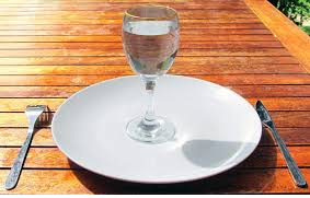 Water on plate